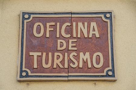 Spanish tourist office sign. Oficina de turismo. Tourist info