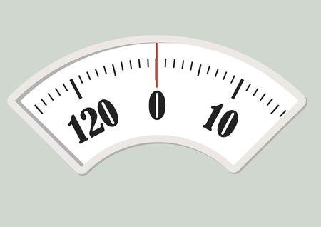 Ilustración de Bath scale dial. Measurement instrument for a diet control - Imagen libre de derechos