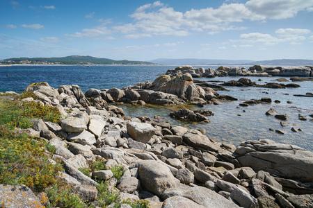 Beautiful landscape of Galicia, coastline close to O Grove, Spain, Europe