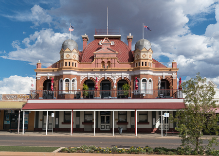 KALGOORLIE, AUSTRALIA - JANUARY 27, 2018: Historic buildings of the city of Kalgoorlie on January 27, 2018 in Western Australia