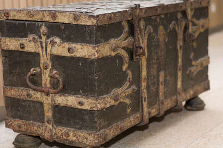 old valuable chest, treasure chest as a decoration