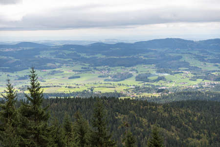 Panoramic view of the hiking destination Dreisesselberg at the Bavarian Forest National Park