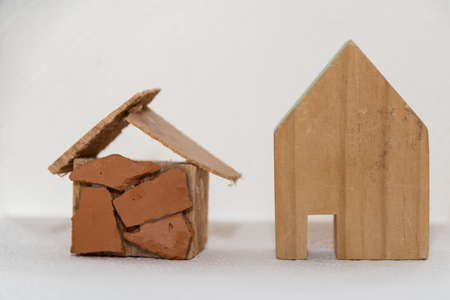 Photo pour Dream home or home and house - house building and home, model - image libre de droit