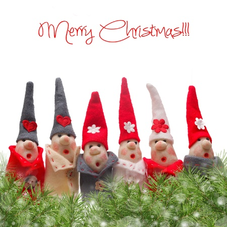 Christmas Elves decorations. Product made from salt and flour