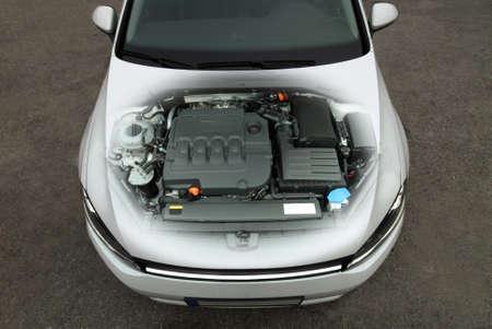 transparent car engine