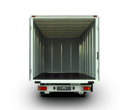Foto de Empty van with rear doors opened - Imagen libre de derechos
