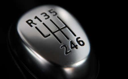Photo pour The head of the manual transmission lever - image libre de droit