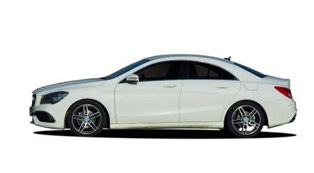 Photo for sedan, car on white background - Royalty Free Image