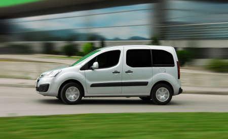Photo for Van at high speed. Speedy van. - Royalty Free Image