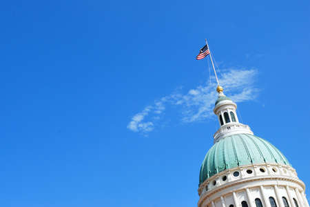 Photo for St. Louis Missouri Capitol against a sky. - Royalty Free Image