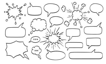 Big set of speech bubbles.