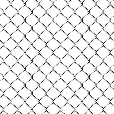 Chainlink fence. Seamless illustration.