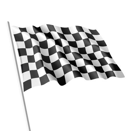 Illustration pour Checkered flag - image libre de droit