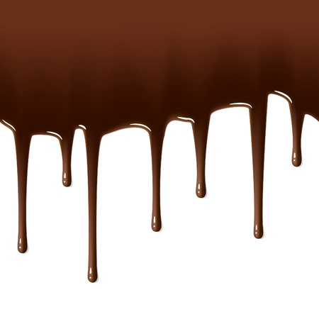 Melted chocolate dripping. Seamless illustration.