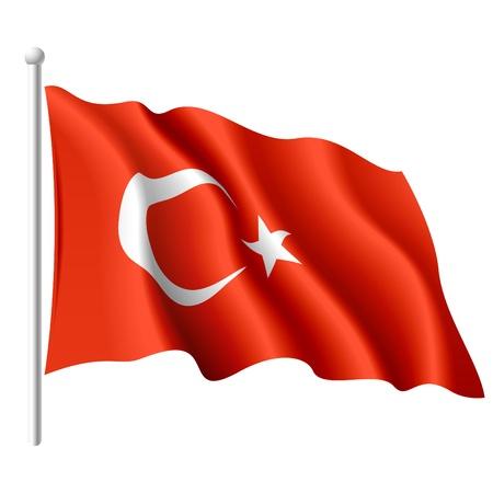 Illustration pour Flag of Turkey - image libre de droit