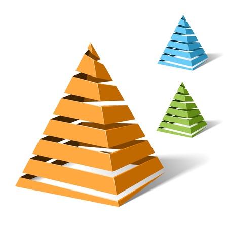 Illustration pour Spiral pyramids - image libre de droit