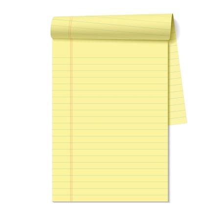Illustration pour Blank legal pad - image libre de droit