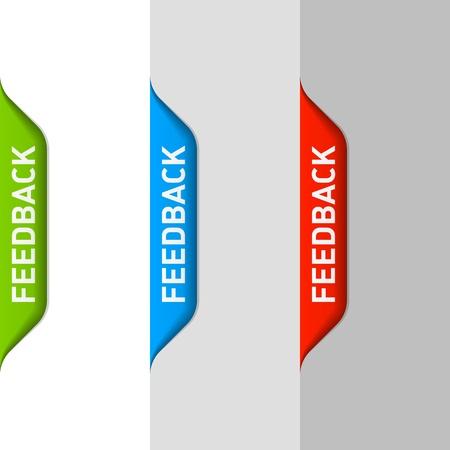 Illustration pour Feedback element - image libre de droit