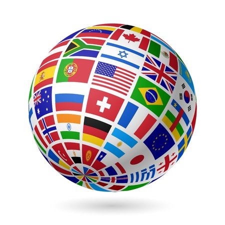 Illustration for Flags globe - Royalty Free Image