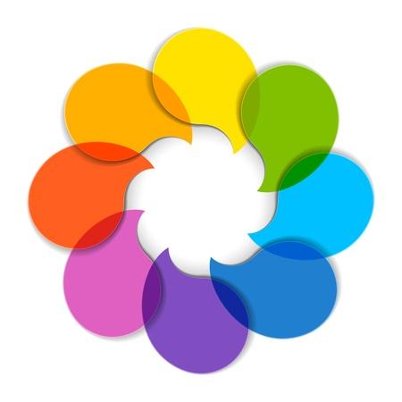 Illustration pour Circle diagram - image libre de droit