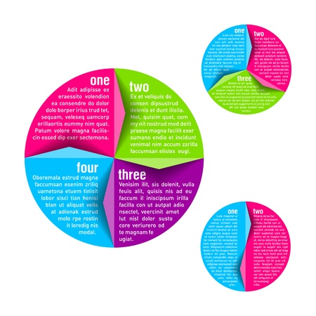 Circle diagram design template
