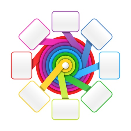 Eight elements circle colorful presentation or design template