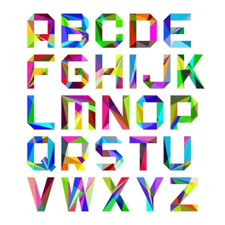 Illustration pour Alphabet letters - image libre de droit