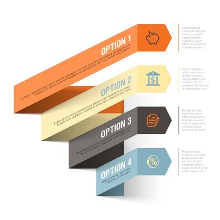 Bank theme abstract infographics template