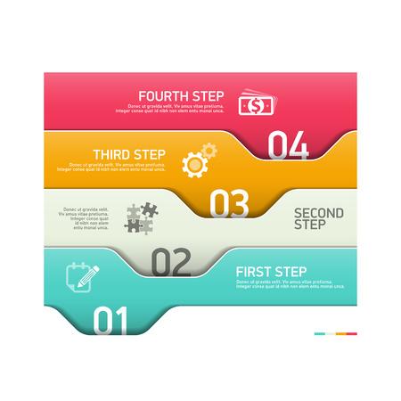 Infographics steps design template