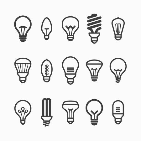 Illustration pour Light bulb icons - image libre de droit