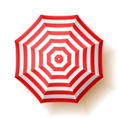Beach umbrella, top view