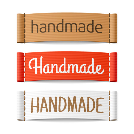 Illustration pour Handmade labels - image libre de droit