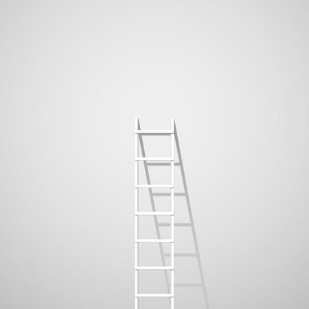 Illustration pour White ladder against wall - image libre de droit
