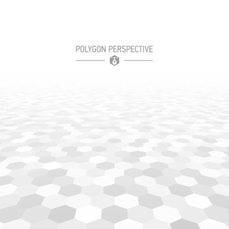 Illustration for Polygon shapes perspective background - Royalty Free Image