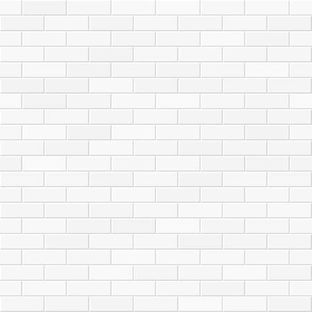 White brick wall seamless illustration