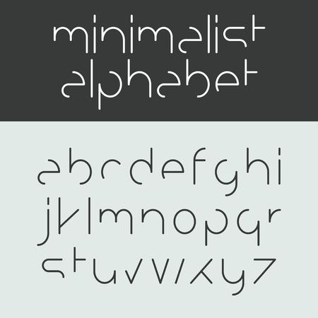 Minimalist alphabet lower case letters