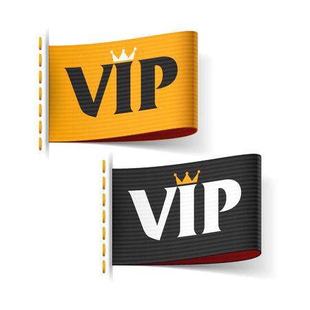 Illustration pour VIP labels - image libre de droit