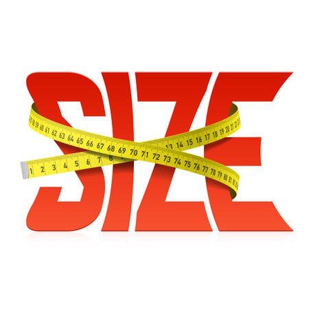 Squeezed by tape measure word Size