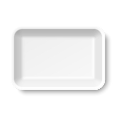 Vektor für White empty food tray - Lizenzfreies Bild