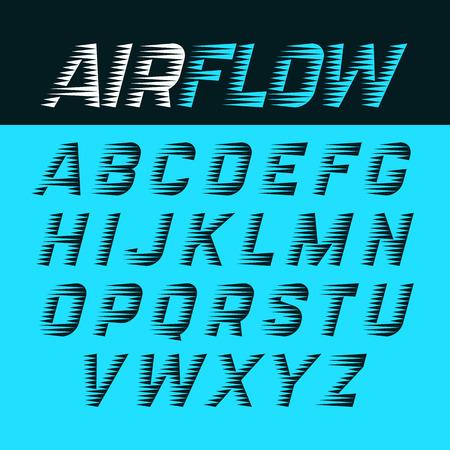 Illustration pour airflow alphabet - image libre de droit