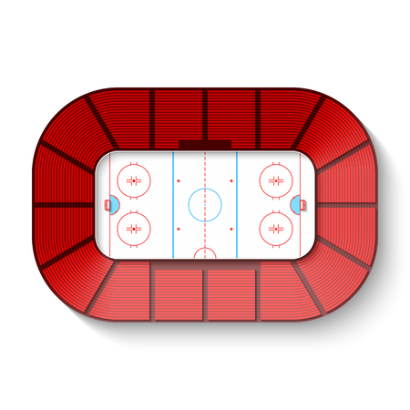 Hockey arena, top view