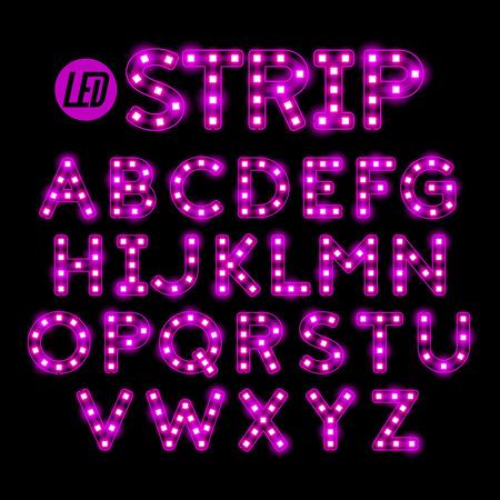 LED ribbon strip light alphabet