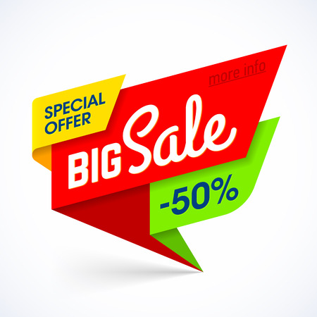 Big Sale banner. Special offer, up to 50% off