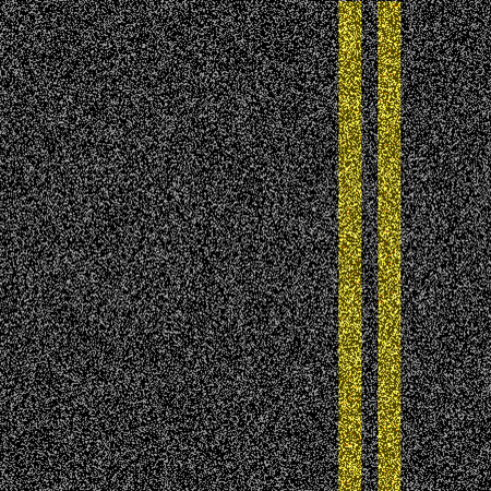 Photo for Asphalt road with double yellow marking line - Royalty Free Image