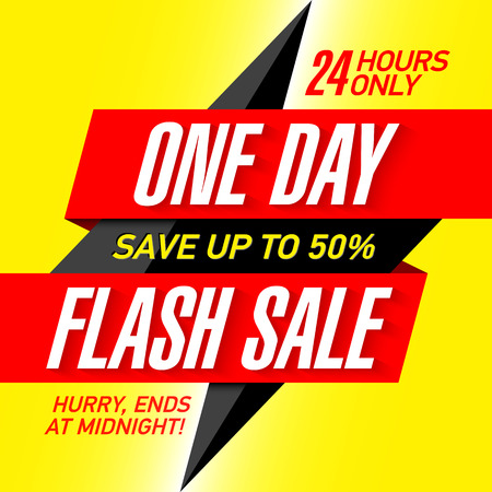 One Day Flash Sale banner design template