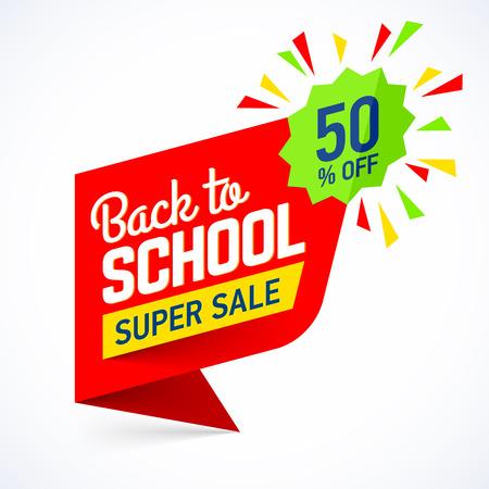 Illustration for Back to school sale banner - Royalty Free Image
