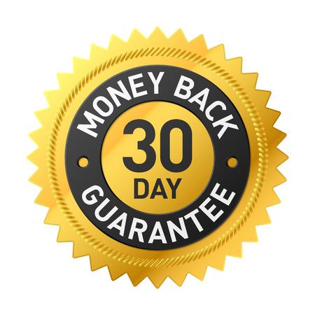 30 day money back guarantee label