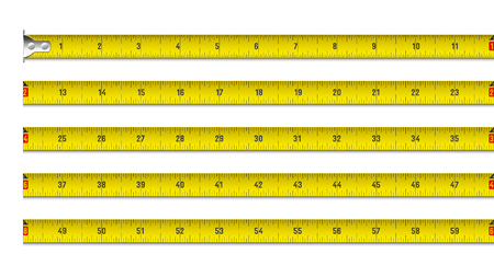 Illustration for Tape measure in inches - Royalty Free Image
