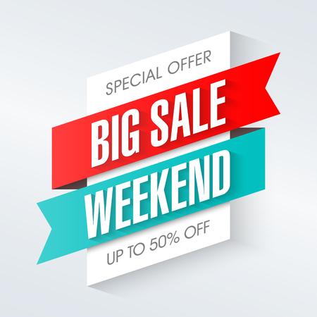 Ilustración de Big Sale Weekend, special offer banner - Imagen libre de derechos