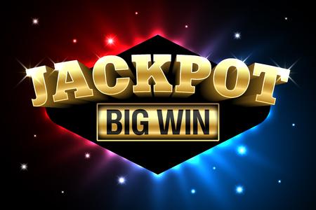 Illustration pour A Jackpot, gambling casino money games banner, big win - image libre de droit